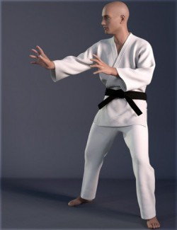 dForce HnC Judo Suit for Genesis 8 Males