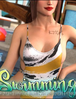 Swimming for Japanese Bathing Suit for Genesis 8 Females