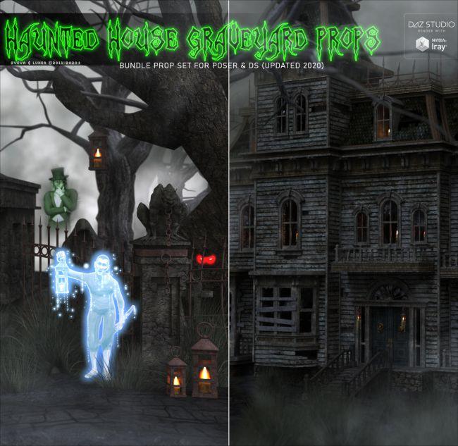 Haunted House Graveyard Props BUNDLE