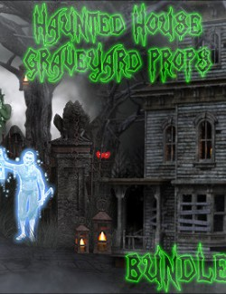 Haunted House Graveyard Props BUNDLE