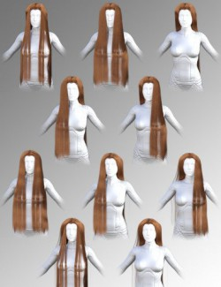 dForce Elven Lord Hair for Genesis 8