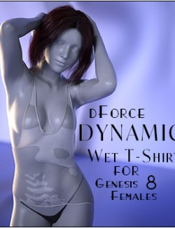 dForce Dynamic Wet T-Shirt for Genesis 8 Females