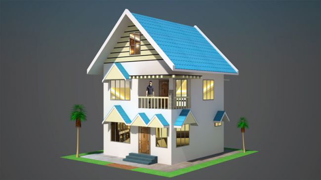 Design of 45 m2 House - Extended License