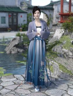 dForce Song Dynasty Female Suit for Genesis 8 Females