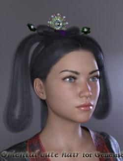 Oriental Cute Hair for Genesis 8 Females