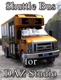 Shuttle Bus for DAZ Studio