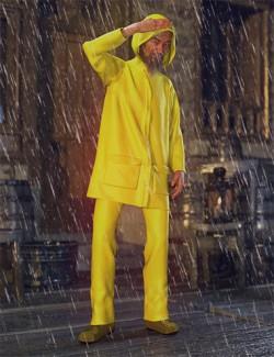 dForce Wet Weather Gear for Genesis 8 Male(s)