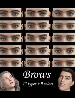 Eyebrows natural look, for men and women G8