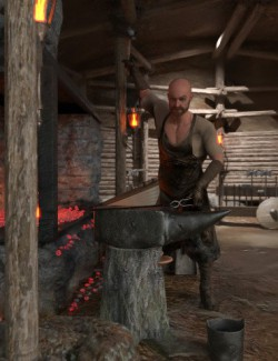 Viking Blacksmith Environment Set