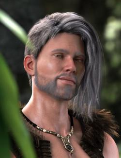 dForce Thorin Hair for Genesis 8 Males