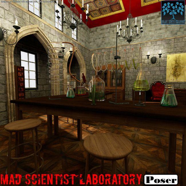 Mad Scientist Laboratory for Poser