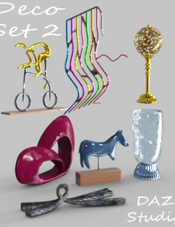 Deco Set 2 for DAZ Studio