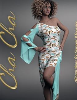 Cha Cha dforce dress for Genesis 8 Females