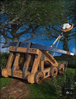 Viking Catapult and Poses for Genesis 8 Male