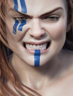 Viking Warrior Expressive for Freja 8 and Genesis 8 Female