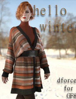 Hello Winter dforce clothing for G8F
