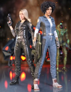 Sci-Fi Retro Outfit for Genesis 8 Females