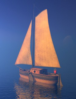 Smugglers yacht for Daz Studio