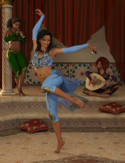 Bellydance Melodie Poses and Props for Genesis 8 Females