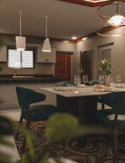 Avil Kitchen Dining Room