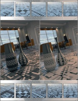 Deco Noir Floor Tile Iray Shaders