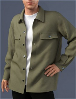 dForce HnC Shirt Jacket Outfit for Genesis 8 Males