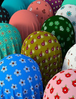 Floral Cotton Fabric Iray Shaders