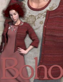Boho- Dynamic Dress and Vest for La Femme