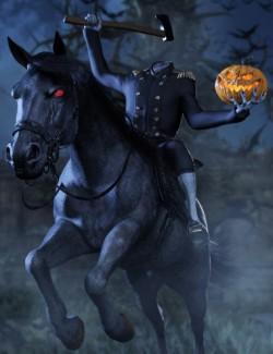 Headless Horseman HD for Genesis 8 Male