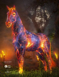 Ember Horse Texture for Daz Horse 2