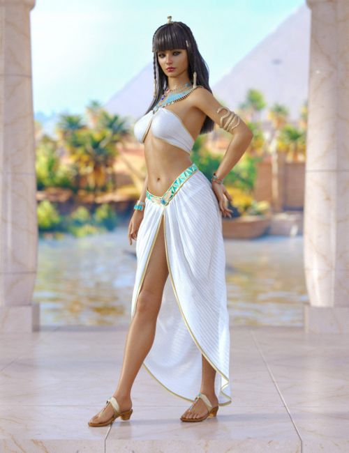 dForce Queen of the Nile Outfit and Hair for Genesis 8 Females