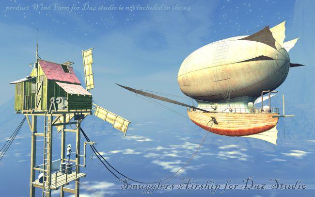 Smugglers Airship for Daz Studio