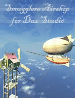 Smugglers Airship for Daz Studio