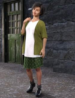 dForce Hagai Style Outfit for Genesis 8 Females