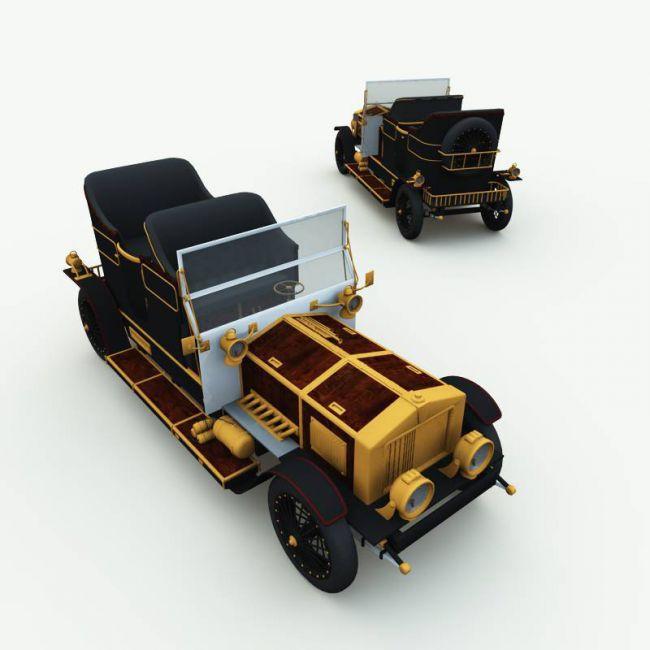 Clockwork Steampunk Car for Poser