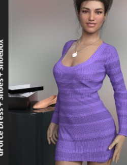 dForce Fashion Set KnitDress for Genesis 8 Female