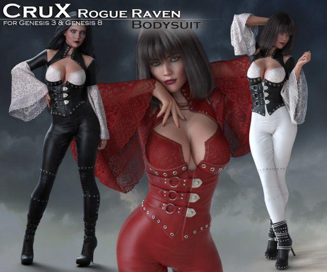 CruX Rogue Raven Bodysuit with dForce