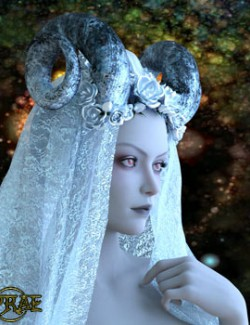 Prae-Demon Bride Headdress for G8 Daz