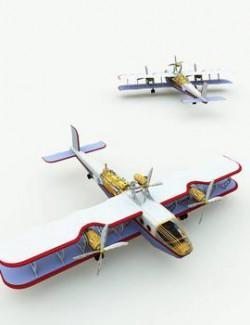 Clockwork Steampunk Airplane for Poser