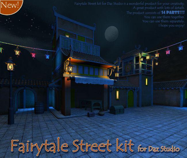 Fairytale Street kit for Daz Studio