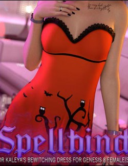 Spellbind for Bewitching Dress for Genesis 8 Female