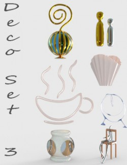 Deco Set 3 for DAZ Studio