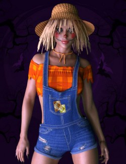 X-Fashion Scarecrow Costume for Genesis 8 Females