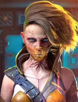 HD Face Burns for Genesis 8 Females
