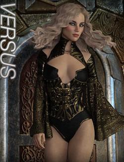 VERSUS- CruX Rogue Raven Bodysuit with dForce