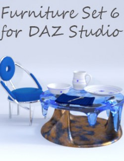 Furniture Set 6 for DAZ Studio