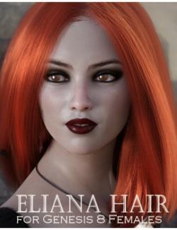 Eliana Hair for Genesis 8 Females