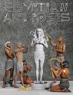 Egyptian Art Poses for Genesis 8