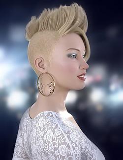 Ramone Hair for Genesis 8 Female(s)