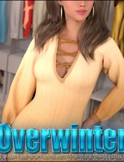 Overwinter for JMR dForce Ninon Knitted Dress for Genesis 8 Female(s)